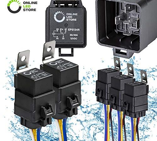 Admirable Online Led Store 5 Pack 40 30 Amp Waterproof Relay Switch Harness Wiring 101 Ferenstreekradiomeanderfmnl